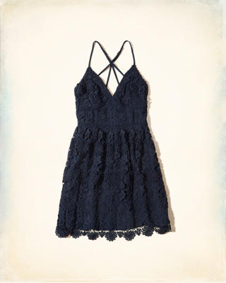Strappy Back Lace Dress