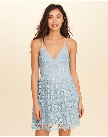 hol Strappy Back Lace Dress
