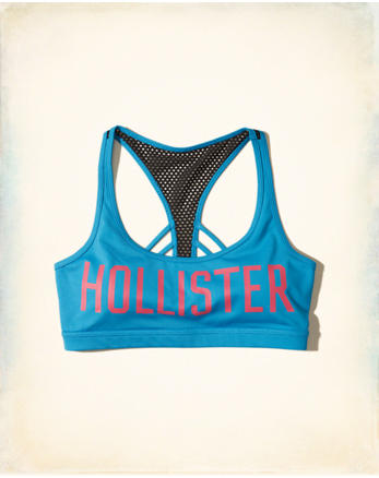 hol Graphic Racerback Scoop Sports Bra