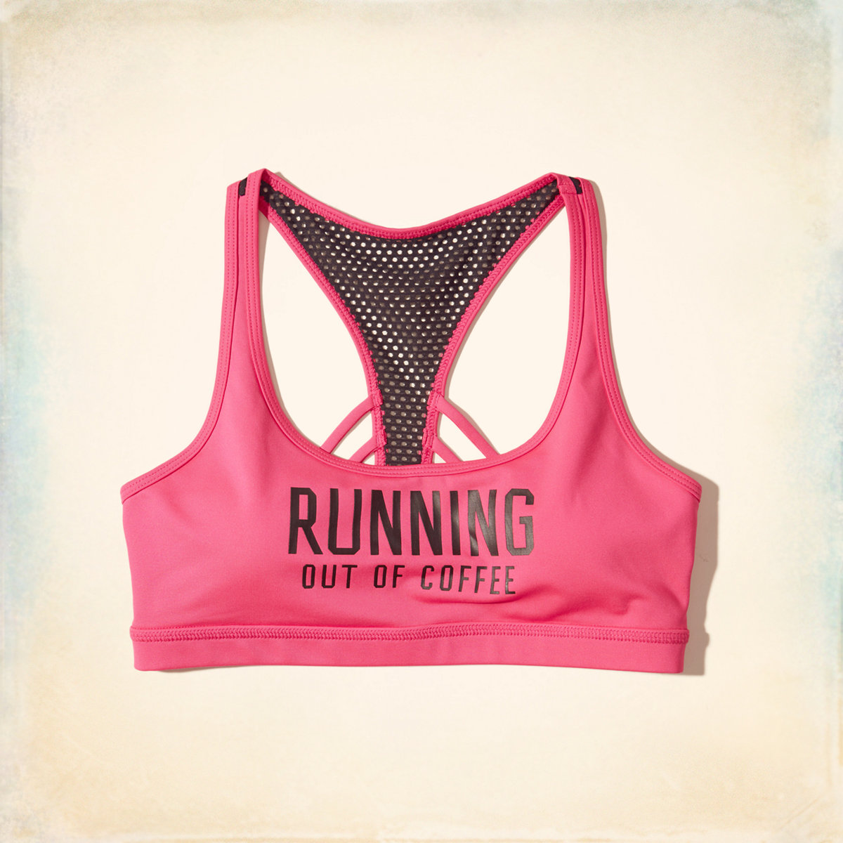 Graphic Racerback Scoop Sports Bra