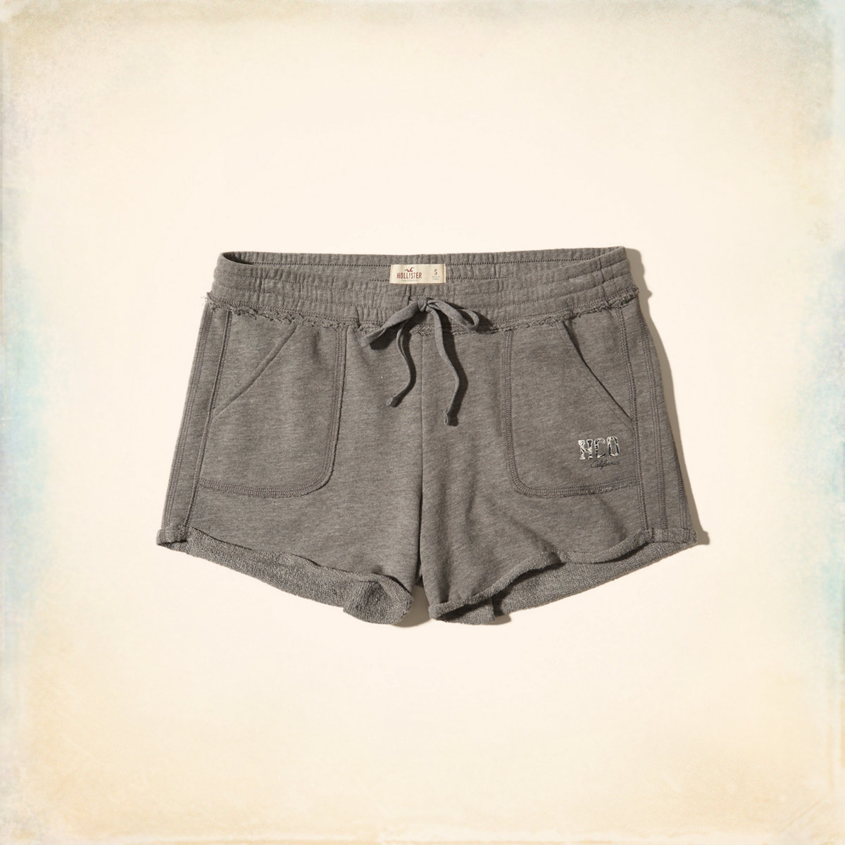 Rolled Hem Terry Shorts