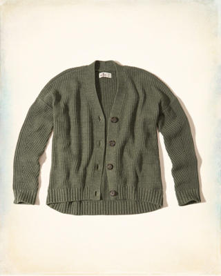 Ribbed Boyfriend Cardigan