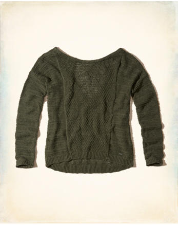 hol Textured Open Back Sweater
