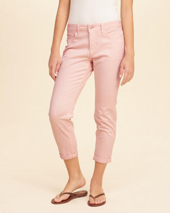 Low-Rise Boyfriend Pants