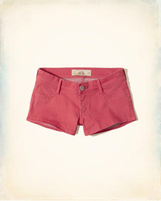Low-Rise Sateen Short-Shorts