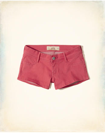 hol Low-Rise Sateen Short-Shorts