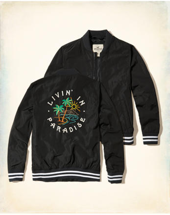 hol Embroidered Souvenir Bomber Jacket