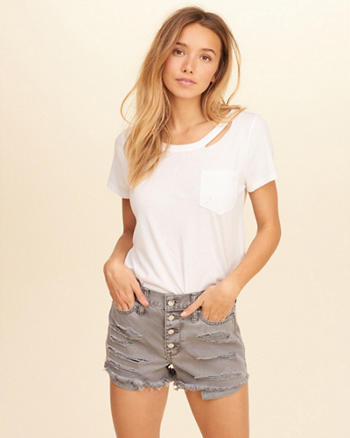 Distressed Pocket T-Shirt