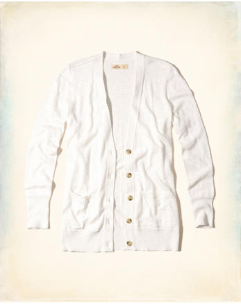 hol Button-Front Boyfriend Cardigan