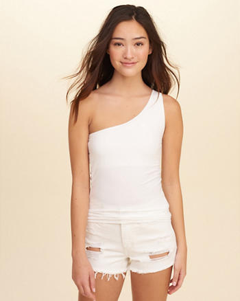 Slim One-Shoulder Top