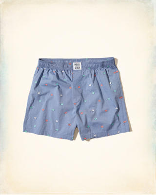 Patterned Woven Boxer
