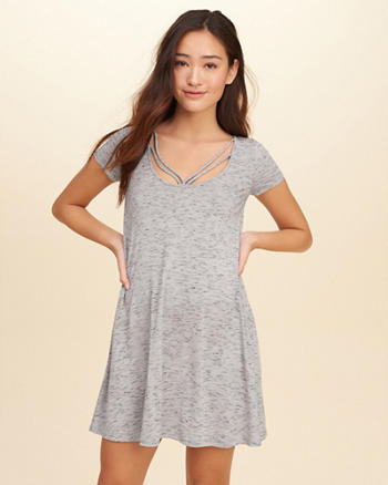 Strappy Swing T-Shirt Dress