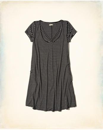 hol Strappy Swing T-Shirt Dress
