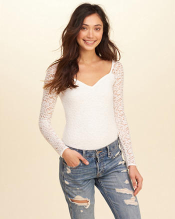 Sweetheart Lace Bodysuit