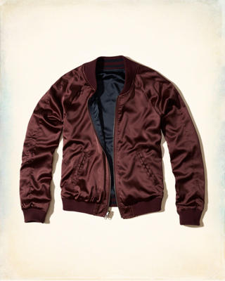 Reversible Satin Bomber Jacket