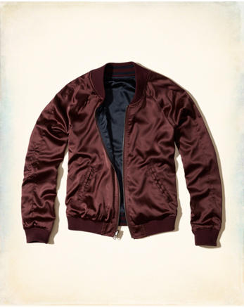 hol Reversible Satin Bomber Jacket