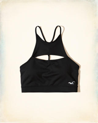 High-Neck Cutout Sports Bra
