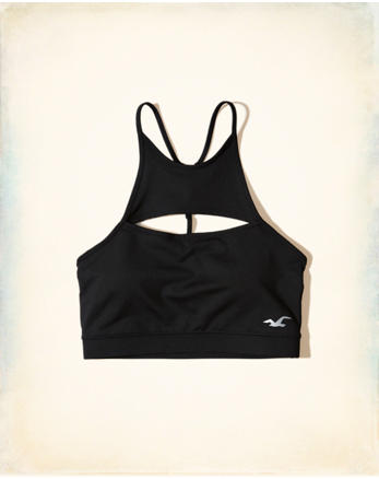hol High-Neck Cutout Sports Bra