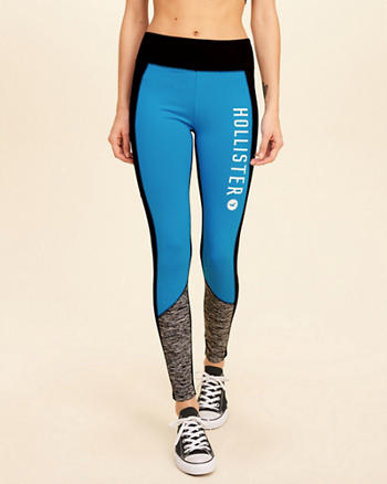 Colorblock Graphic Active Leggings