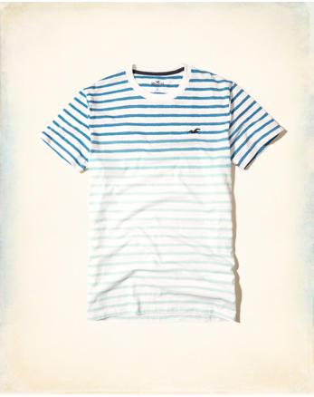 hol Stripe Crew T-Shirt