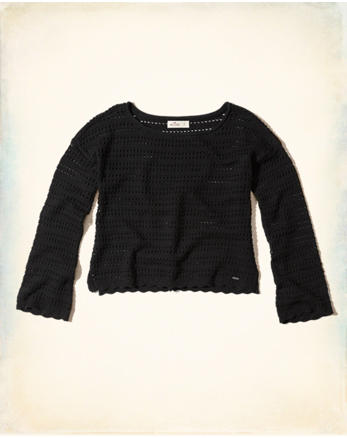 hol Open Stitch Pullover Sweater