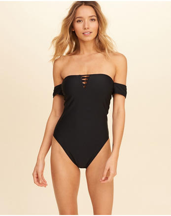 hol Strappy Off-The-Shoulder One-Piece Swimsuit