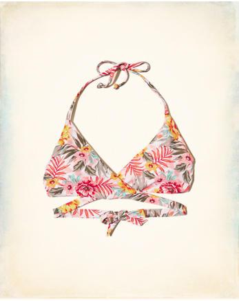 hol Wrap Triangle Bikini Top