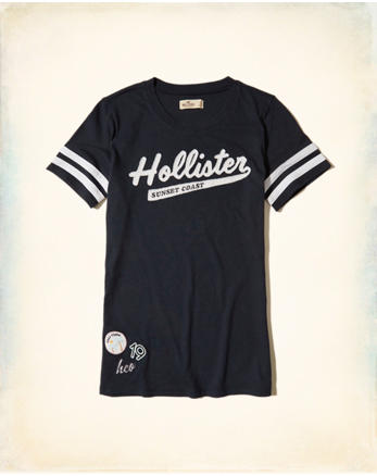 hol Applique Logo Graphic Tee