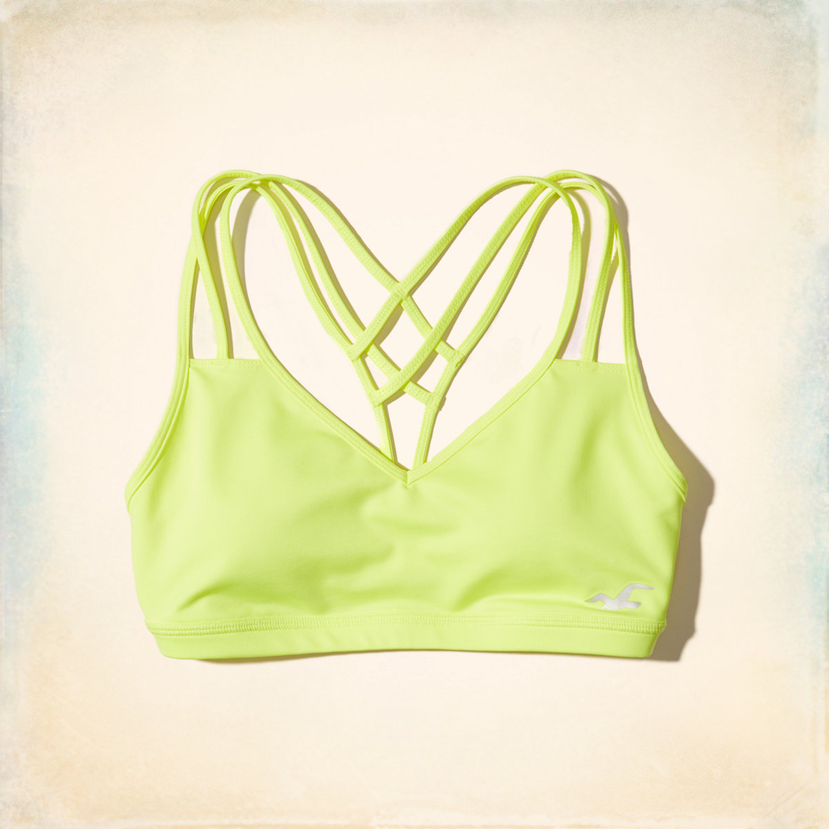 Strappy V-Neck Sports Bra