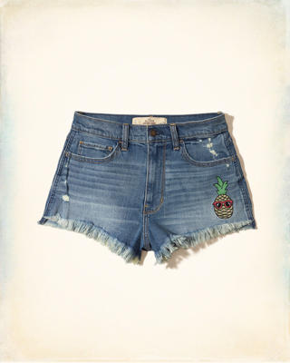 High-Rise Denim Vintage Shorts