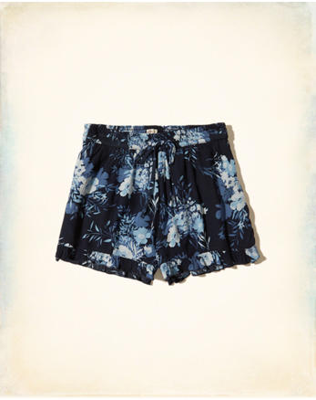 hol Ruffle Hem Woven Shorts