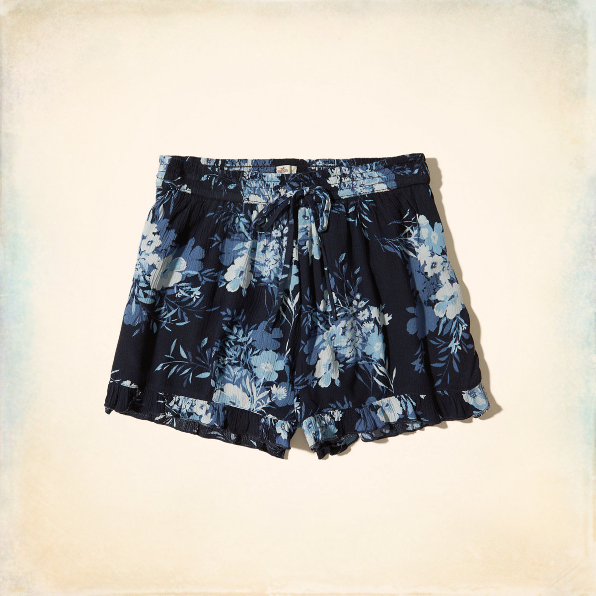 Ruffle Hem Woven Shorts