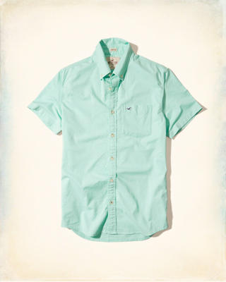 Stretch Short-Sleeve Oxford Shirt