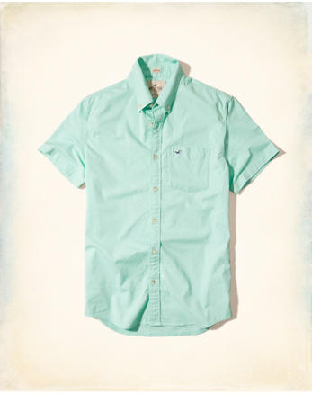 hol Stretch Short-Sleeve Oxford Shirt