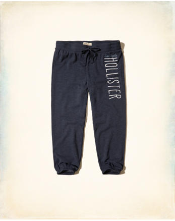 hol Graphic Crop Banded Sweatpants