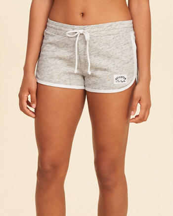 Curved Hem Terry Shorts