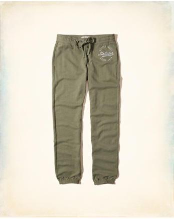 hol Logo Graphic Banded Sweatpants