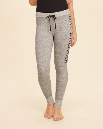 Embroidered Graphic Fleece Leggings