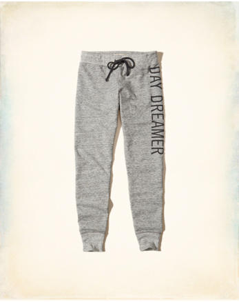 hol Embroidered Graphic Fleece Leggings