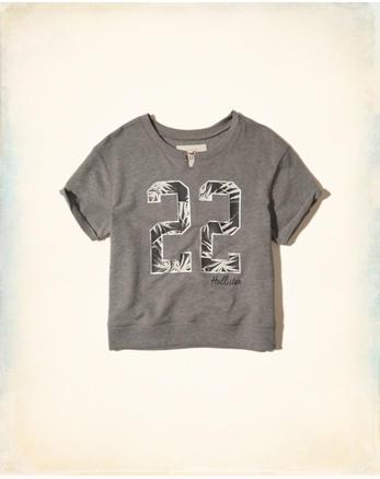 hol Short-Sleeve Crew Sweatshirt
