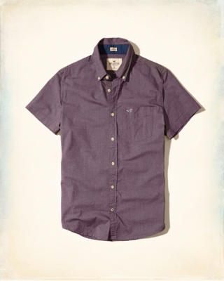 Short-Sleeve Stretch Poplin Shirt