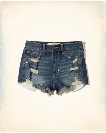 hol High-Rise Denim Vintage Shorts