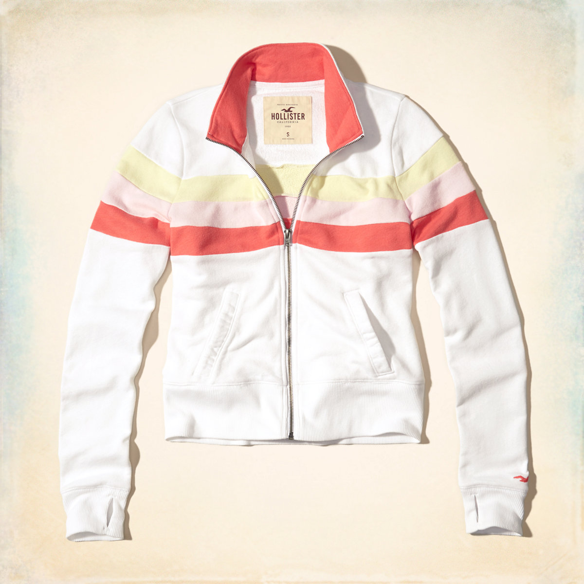 Colorblock Fleece Track Jacket