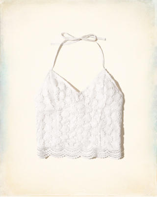 Lace Halter Crop Top