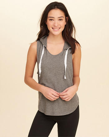 Knit Hooded Tank