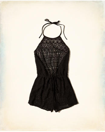 hol Lace Romper Swim Cover-Up