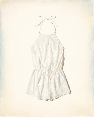 Lace Romper Swim Cover-Up