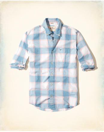 hol Stretch Plaid Poplin Shirt