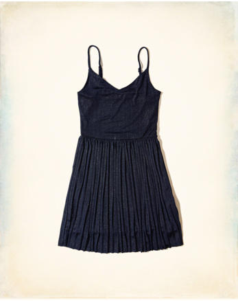 hol Shine Pleated Dress