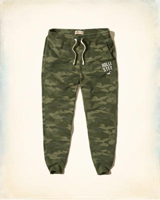 Graphic Fleece Skinny Jogger Pants